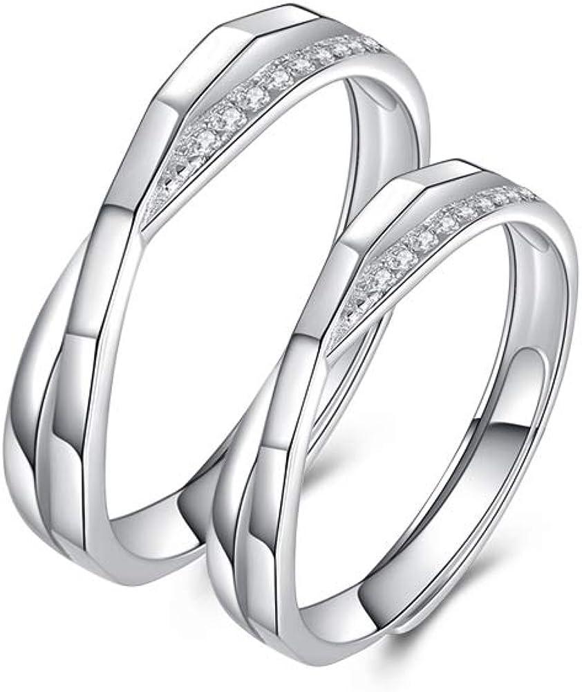 指輪 ペアリング 『愛の絆』ジルコニア 純銀製指輪 リング レディース リング メンズ 結婚指輪 婚約指輪 ペアリング カップル サイズフリー 調整可能 アクセサリー ジュエリー