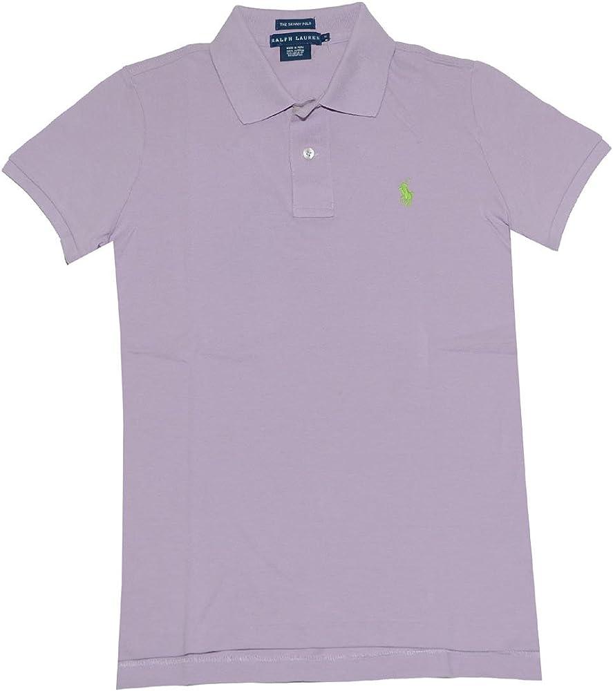 Ralph Lauren mujer la Skinny polo pony Logo camiseta (L, color ...