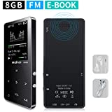 MYMAHDI MP3/MP4 Music Player, 8GB Portable Audio Player with Photo Viewer, Voice Recorder, FM Radio, A-B Playback, E-book, Metal body, Build-in Speaker with Headphone(Expandable Up to 128GB), in Black