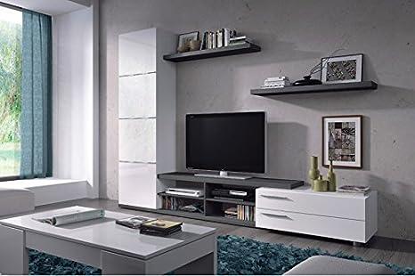 HABITMOBEL Completo Conjunto Mueble Salón TV Comedor + ...