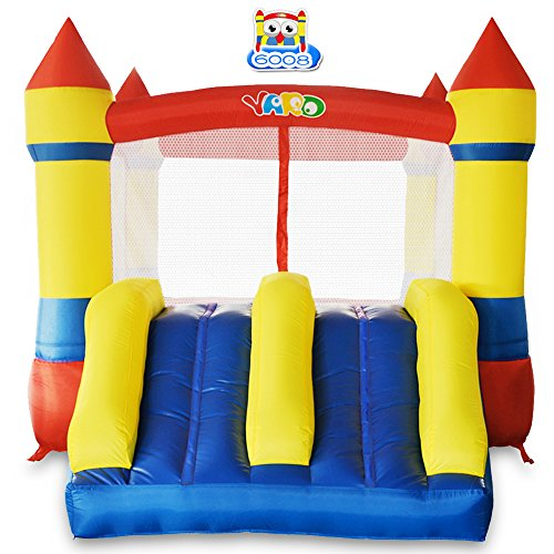 - YARD Bounce House Dual Slide with Blower Indoor Outdoor Moonwalk Inflatable Bouncer Made of Nylon and Vinyl 12.1'x8.5'x6.9'