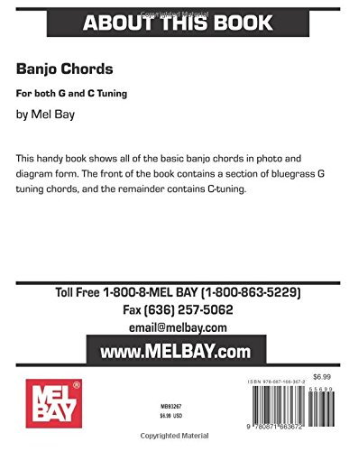 Amazon Mel Bay Banjo Chords 0796279000826 Mel Bay Books
