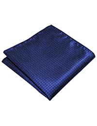 Shlax&Wing Navy Dots Pocket Square Silk Business Handkerchief New
