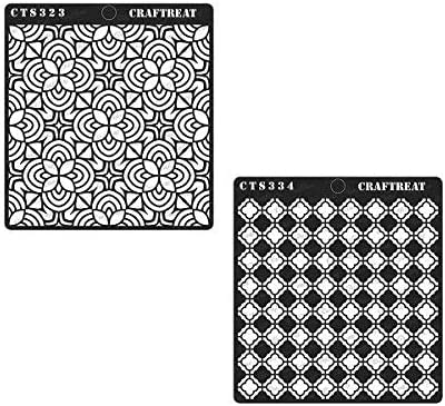Wood 6X6 2 pcs Fabric CrafTreat Stencil Arabesque /& Swirly Swirls Wall Crafting Scrapbook and Printing on Paper   Reusable Painting Template for Journal Home Decor DIY Albums Tile