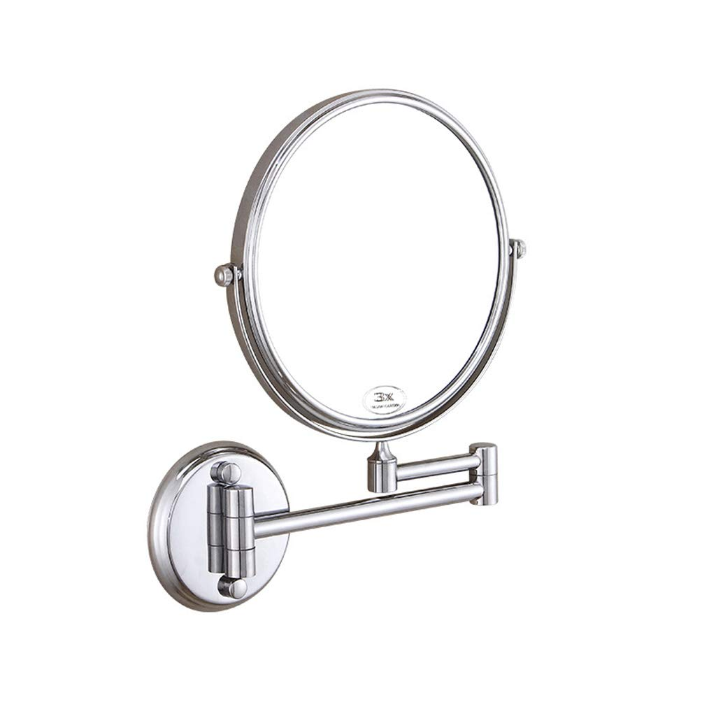 C&Q CQ Creative Bathroom Mirror Wall-Mounted Vanity Mirror Bathroom Beauty Mirror Folding Rotating Double-Sided Female (Size : L) by C&Q