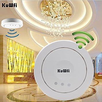 kuwfi X9500 300 Mbps techo AP Wifi Router Wireless Access Point Router techo Montaje PoE Access Point repetidor en 5dBi Antena aufbauen VLAN & POE ...