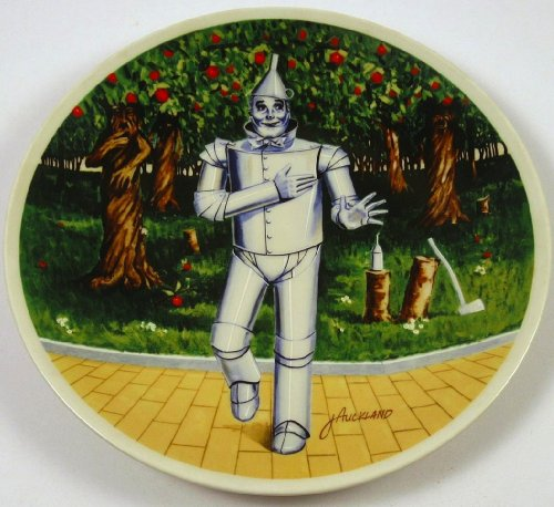 The Wizard of Oz Tin Man If I Only Had a Heart Knowles Collector Plate (Wizard Man Heart Of Oz Tin)