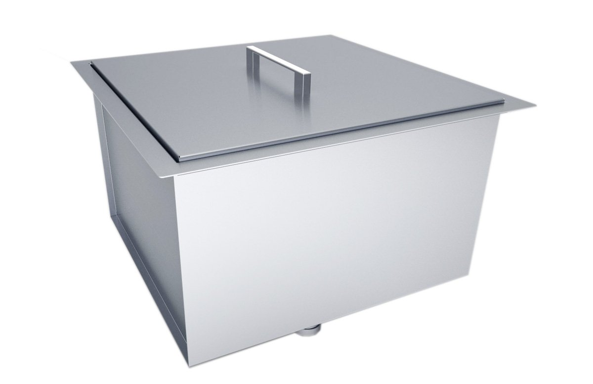 SUNSTONE B-SK20 Over/Under Height Single Basin Sink with Cover, 20 ...