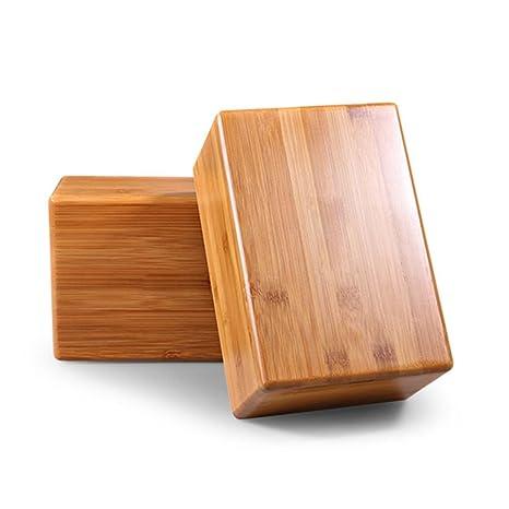 Grofitness bambú Bloques para Yoga Ejercicio Fitness Deporte Herramienta - Respetuoso con el Medio Ambiente y renovables Corcho
