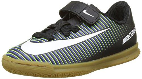 Nike 831951-013, Botas de Fútbol Unisex Niños Negro (Black / White-Electric Green)