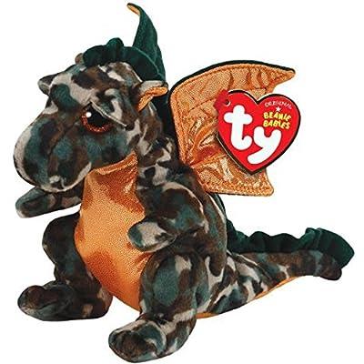 Ty Beanie Babies Razor The Camo Dragon Plush: Toys & Games