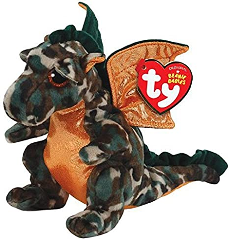 57118e1a663 Image Unavailable. Image not available for. Color  Ty Beanie Babies Razor  The Camo Dragon Plush