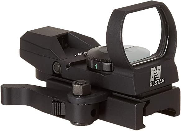 NC Star D4BGQ Green Reflex 4 Reticle Sight with QR Mount, Black