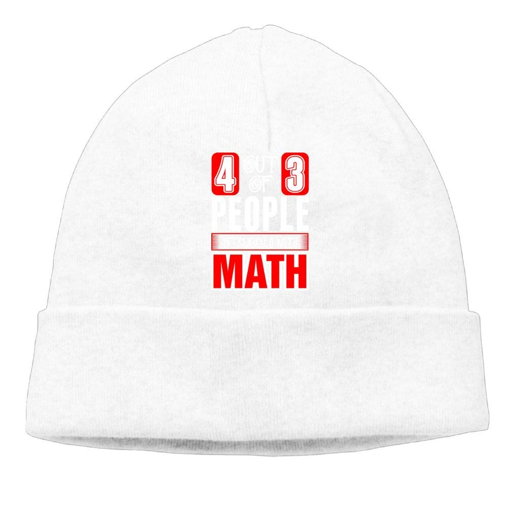 Aiw Wfdnn 4 Out of 3 People Struggle with Math 7 Beanie Hat Knit Cap for Mens