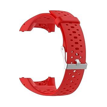 VIMOER Bracelet de Rechange Souple pour Montre connectée Polar M400 M430, Bracelet en Silicone avec