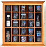 Shot Glass Display Case Wall Rack Cabinet, with glass door, SC01-OA