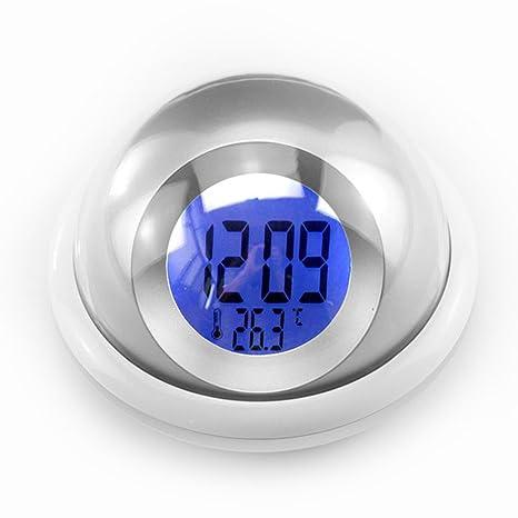 Pritech UFO LED Reloj alarma medidor de temperatura digital multifuncional hablando tiempo despertador del hogar de