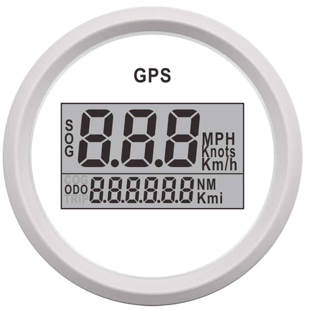 CT-CARID 52mm GPS Speedometer Gauge Odometer SOG ODO 0-999 KMH with Backlight LCD Display Hour Meter 9-32V Digital Speed Meter Speed Sensor for Motorcycle Car Marine Boat