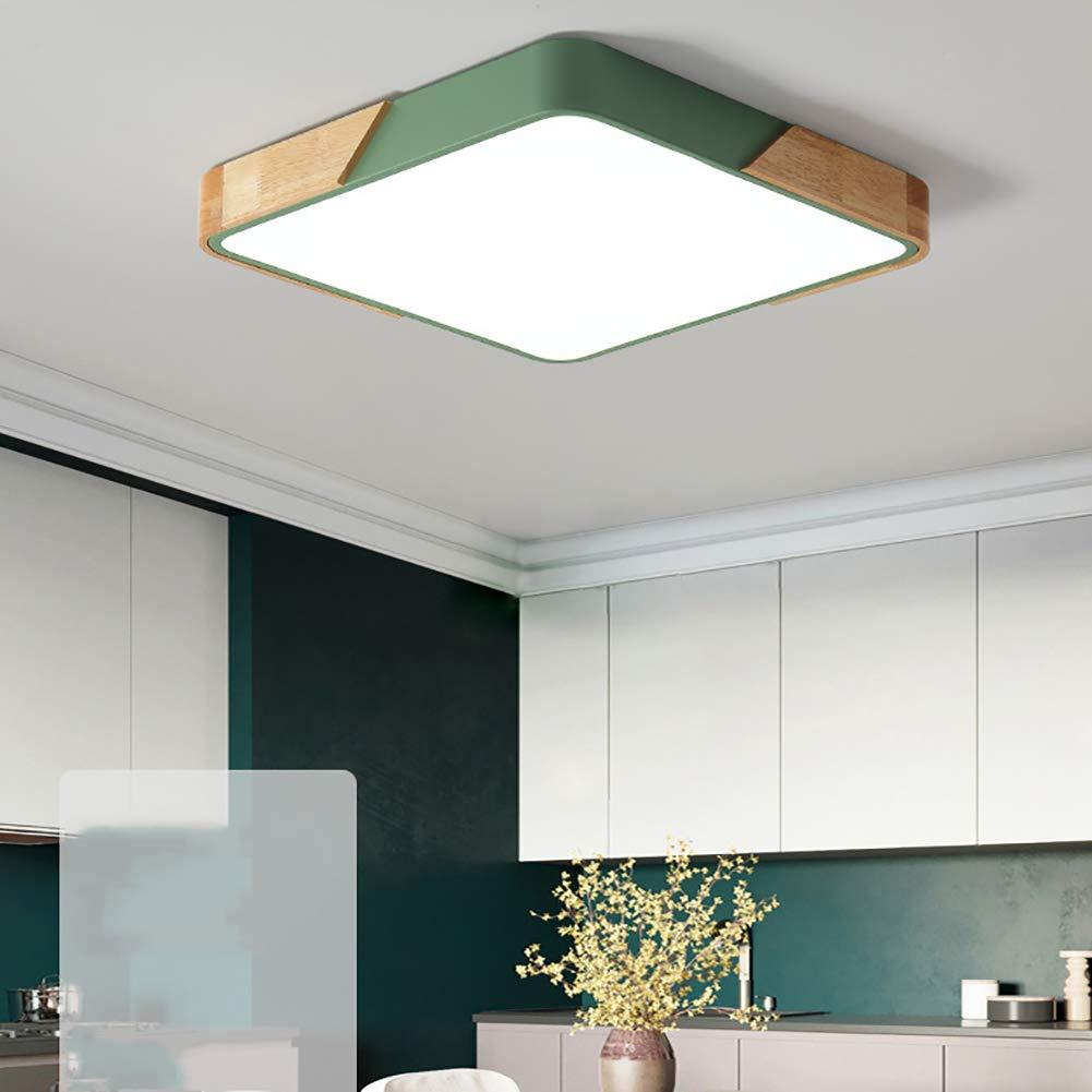 Amazon.com: Lámpara de techo LED empotrable, cuadrada, cerca ...
