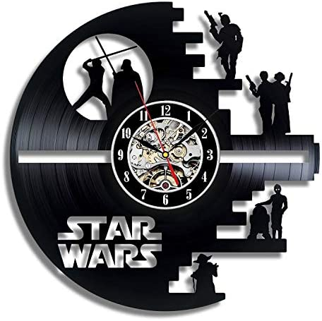 La Bella Casa Star Wars Vinyl Wall Clock Gift Original Gift Handmade Gift Idea Stylish Gift Unique Gift Special Kids Gift New House Gift Playroom Gift Birthday Gift