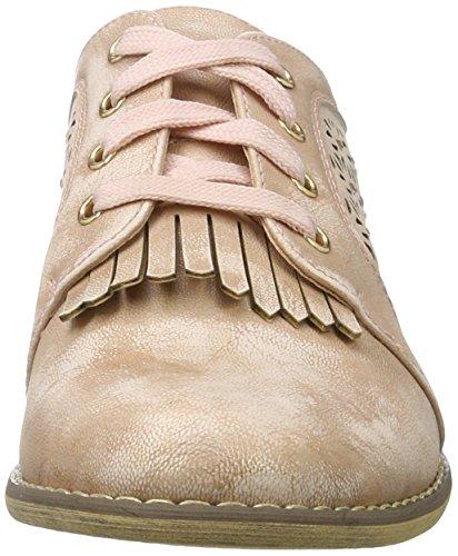 Nude Nude Nude Donna Shoes Ladies Rosa Pu Stringate Scarpe Oxford XTI Bwx7zCqB