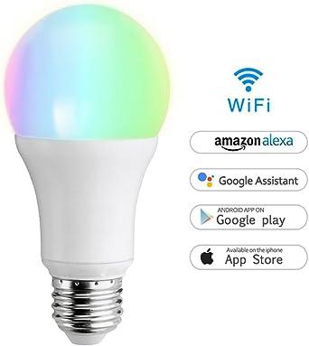 LED Dimmbar Gl/ühbirne 7W E27 650LM Smarthome Birne  Alexa kompatibel Wake up-Light steuerbar via App Funktioniert Ohne Hub 2 Pack Wifi Smart Lampe Wlan Energieklasse A+