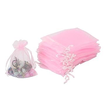 100 bolsas de organza, bolsas de organza para regalos de ...