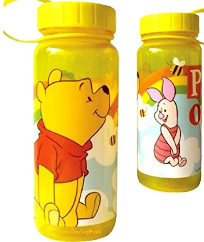 26 Ounces Disney Winnie the Pooh Tritan Water Bottle Wide Mouth with Removable Inner Adapter
