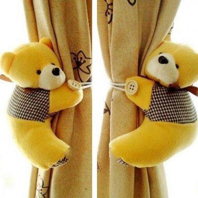 LCsndice Baby Nursery Bedroom Cute Bear Window Tieback Buckle Hook