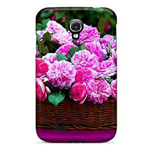 High Quality Phone Case For Samsung Galaxy S4 With Customized HD Basket Full Of Blossoms Series Customcases88