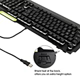 DBPOWER RGB LED Rainbow Backlit Gaming Keyboard