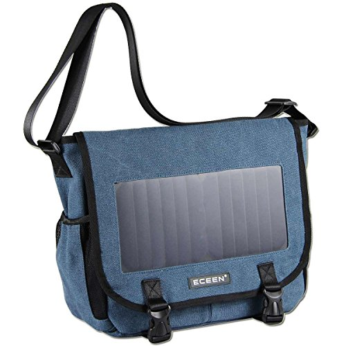 ECEEN Solar Message Bag Single Shoulder Pack with 7 Watts Solar Panel & 5V Voltage Regulator Charging for Smart Phones Digital Cameras Speakers Devices