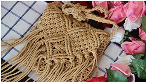 Fatta Huateng All'uncinetto Spiaggia Nappe Con Boho Mano Borsa A Chiaro Tracolla Marrone E ZXwYqrBXUn