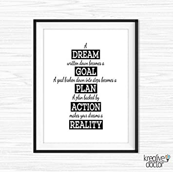 Amazon.com: Office Wall Art Work Hard Quotes Motivational Wall Decor ...