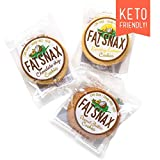 Fat Snax Cookies - Low Carb, Keto, and Sugar Free (Variety Pack, 6-pack (12 cookies)) - Keto-Friendly & Gluten-Free Snack Foods