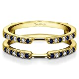 0.28 ct. Diamonds and Sapphire Delicate Traditional Style Ring Enhancer in 14k Yellow Gold (1/3 ct. twt.)