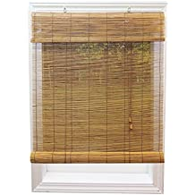 Radiance 0108118 Fruitwood Imperial Matchstick Bamboo Window Shade, Roll Up Horizontal Shades with 6-Inch Long Valance, 48-Inch Wide by 72-Inch Long