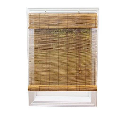 Lewis Hyman Radiance 0108118 Fruitwood Imperial Matchstick Bamboo Window Shade, Roll Up Horizontal Shades with 6-Inch Long Valance, 48-Inch Wide by 72-Inch Long