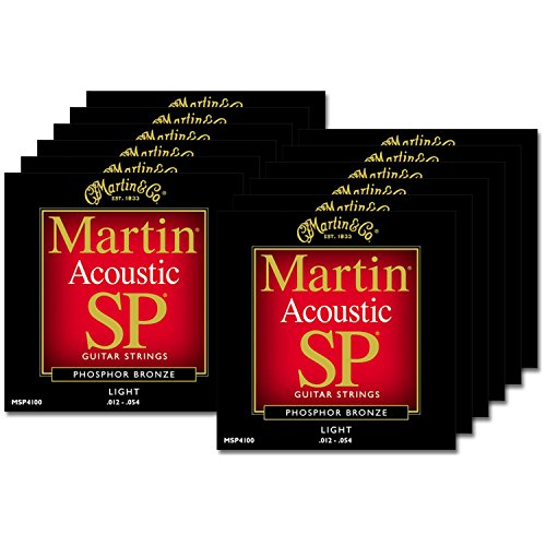 12 Sets of Martin MSP4100 SP Phosphor Bronze Light Acoustic (Martin Msp4100 Light)