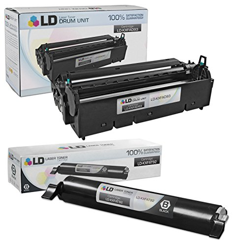 LD Compatible Toner Cartridge & Drum Unit Replacements for Panasonic KX-FAT92 & KX-FAD93 (1 Toner, 1 Drum, 2-Pack)