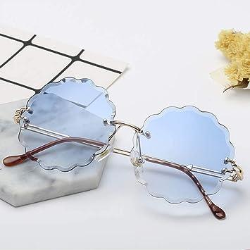 NHQA Gafas de Sol Gafas de Sol sin Montura en Forma de Flor ...