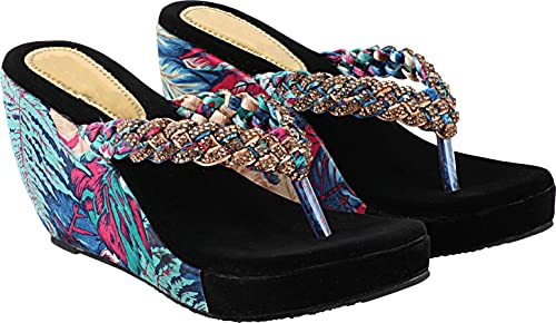 Shoetopia Women Textured Wedges Heels