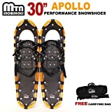 New MTN Extreme Lightweight All Terrian Man Woman Kid Teen Snowshoes up to 255 lbs /Free Bag - GOLD (30'' inch)