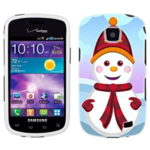 Samsung Illusion Cute Snowman in Red Phone Case