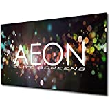 Elite Screens Aeon, 92-pulgadas 16: 9, 4K sistema de cine en casa con pantalla fija EDGE FREE Proyector de proyección sin bordes, AR92WH2