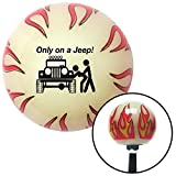 flame shifter knob - American Shifter Company ASCSNX1540051 Black Only On A Jeep Ivory Flame Shift Knob with M16 x 1.5 Insert drag race