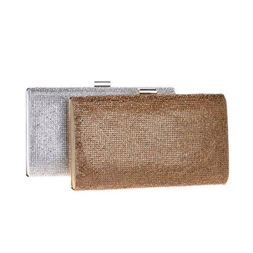 Gold Crossbody Bag Dress Women's Clutch KERVINFENDRIYUN Gold Evening Rhinestone Color Purse Handbag TxnwHw