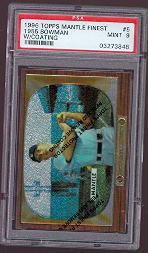 1996 Topps Finest Mickey Mantle 1955 Bowman #5 PSA 9
