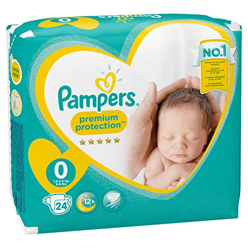 PAMPERS New Baby size 0 (1-2,5 kg) – Pack of 24 nappies