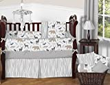 Sweet-Jojo-Designs-Accent-Floor-Rug-for-Grey-and-White-Woodland-Animals-Kids-Bedding-Collection